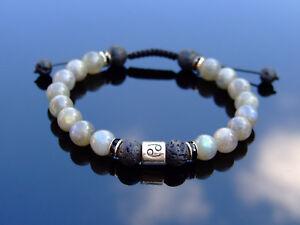 Cancer Labradorite Lava Birthstone Bracelet 6-9'' Macrame Healing Stone Reiki