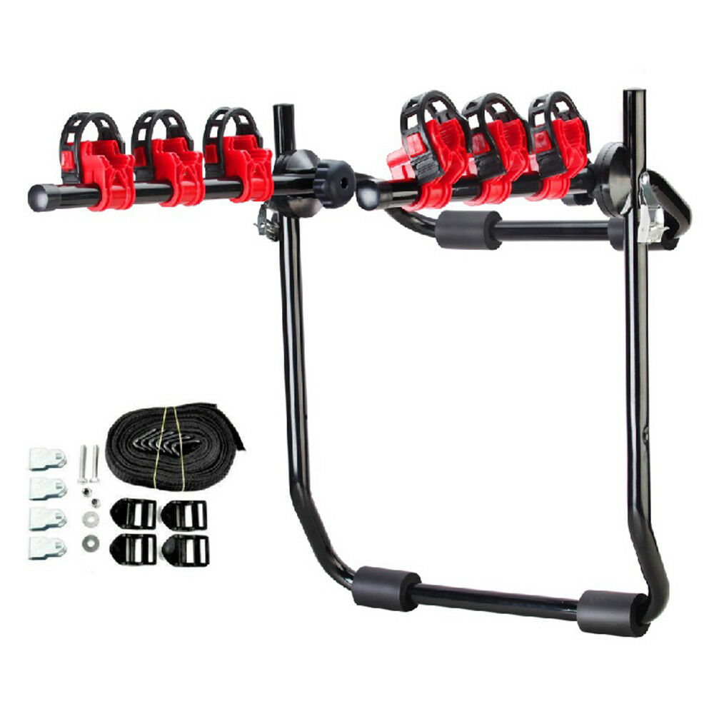 3-Bike Carrier Trunk-Mount Hatchback for SUV Sport Bicycle T