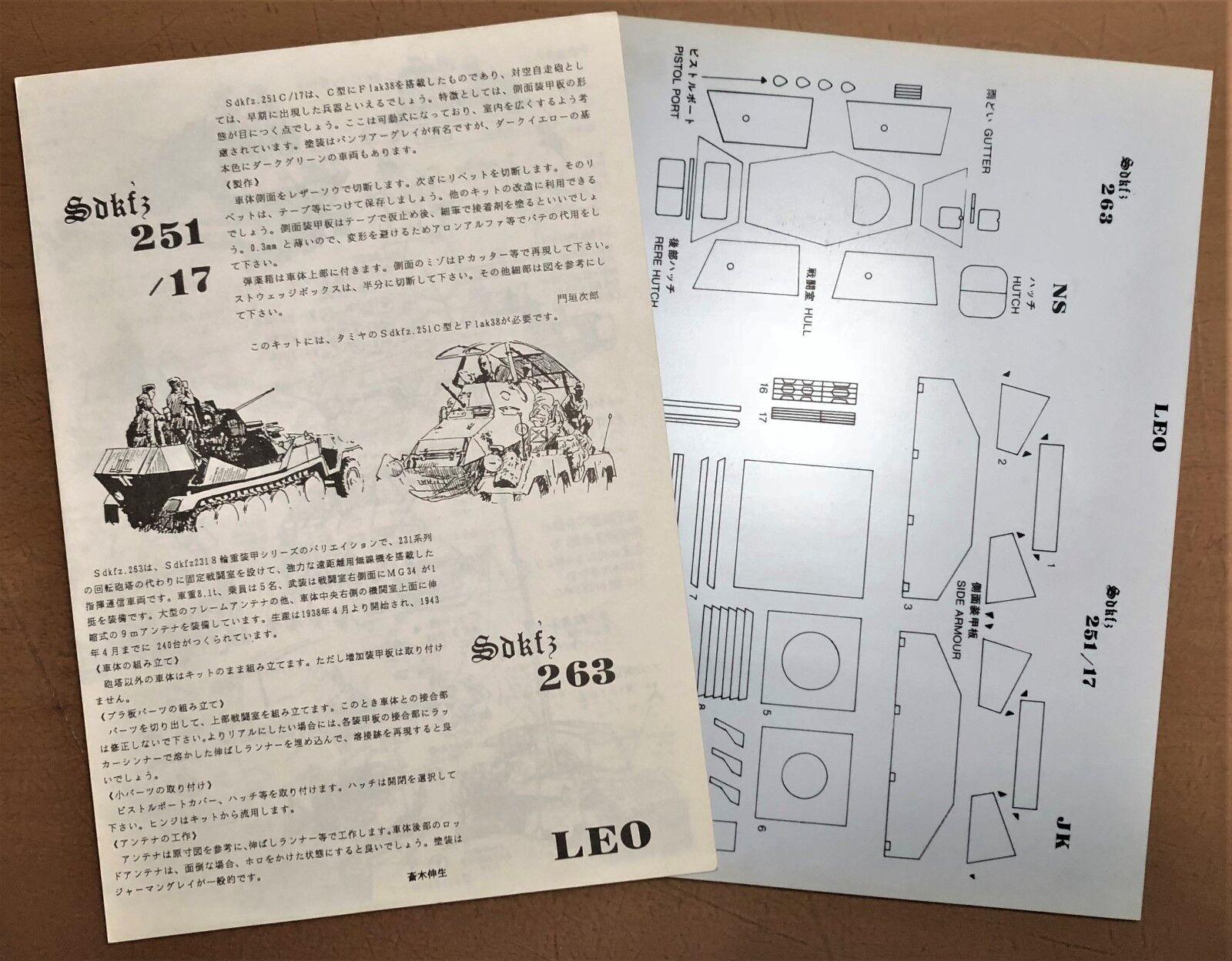 LEO JAPAN - Sdkfz 251 17 Sdkfz 263 - STYRENE MODEL 1 35 RARITA'