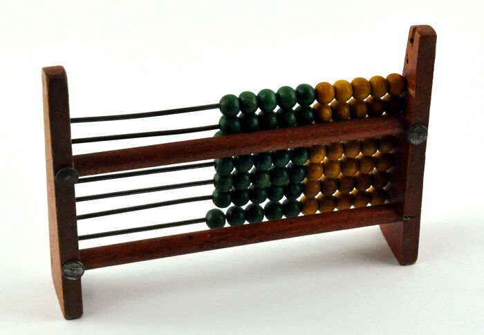 Vintage Wooden Beads Abacus Mathematical Educational Kids Toy