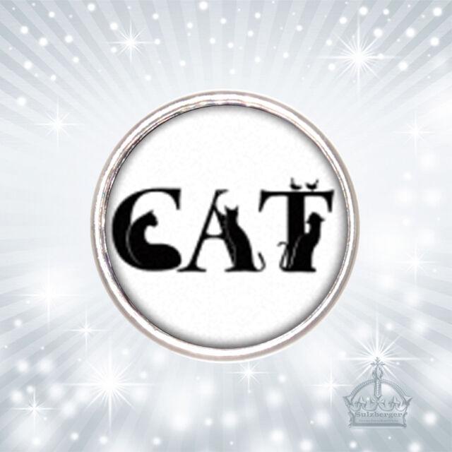 Katze Click Button Kitty Cat  Druckknopf  kompatibel mit Chunks System CB262