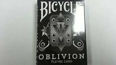 New Bicycle White Oblivion Playing Card Decks(Limited Edition 1st Run Gold Seal)