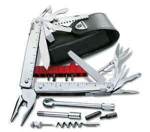 FidèLe Victorinox Swisstool X Plus Ratchet Outil Couteau De Poche Avec Cliquet Et étui-afficher Le Titre D'origine Apparence Attractive
