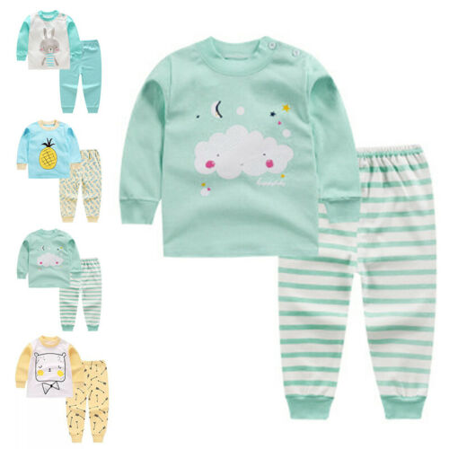 Comfy Pajama Set Sleepwear Baby Toddler Girls Clothes Cotton Outfit Hot