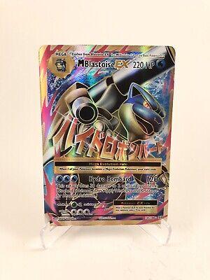 NM FULL ART Pokemon BLASTOISE EX Card BLACK STAR PROMO XY122 20th Anniversary