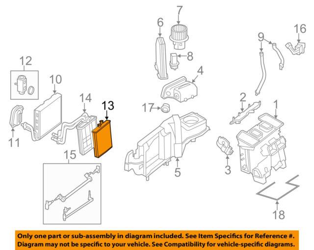 mercedes mercedes benz oem 10 15 e350 hvac heater core 2048300061 ebay 2005 sierra hvac system diagram mercedes oem 10 16 e350 hvac heater core 2048300061