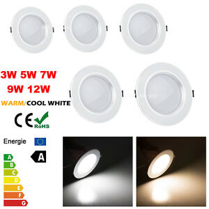 Dimmable-LED-Blanc-Spot-Encastrable-Ampoule-downlight-plafonnier-3W-5W-7W-9W-12W