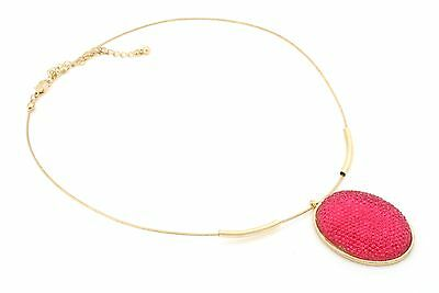 Zest Wire Choker Necklace with Pearlised Round Stone Pendant Silver