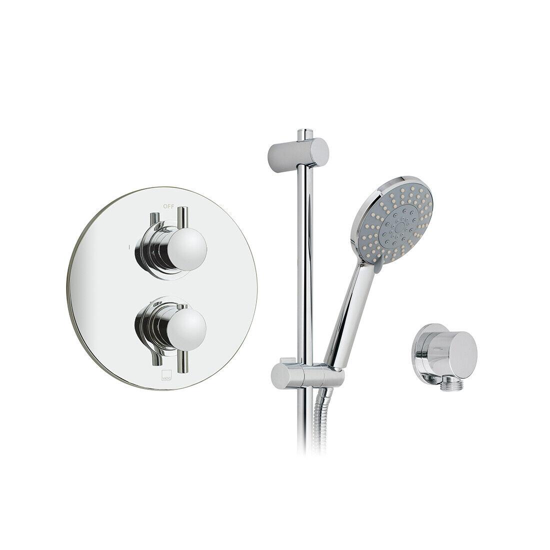 Vado Celsius rojoondo Kit de ducha termostática, Válvula, Riel Deslizante & Outlet Nuevo Y En Caja