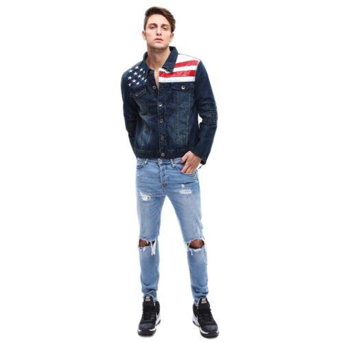 veste gar drapeau am on Hommes jeans denim WUnvqxCO