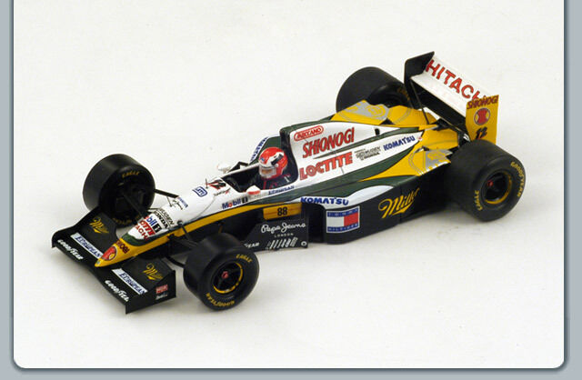 1 43 LOTUS 109 JOHNNY HERBERT BELGIUM BELGIUM BELGIUM GRAND PRIX F1 SPARK W DRIVER FIG 144544