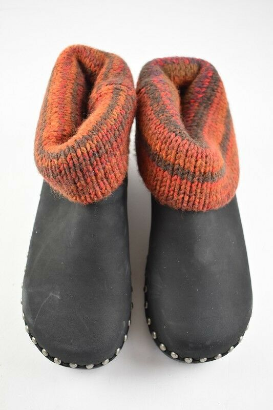 Damen Berkemann Winter Toeffler in Schwarz Orange Nubuk 4,5