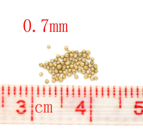 Cards 25g Gold No Hole Micro Beads Caviar Manicure Pedicure Crafts