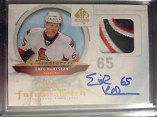 2009-10 Erik Karlsson SP Authentic Future Watch Tri-Color Patch RC AU 013/100