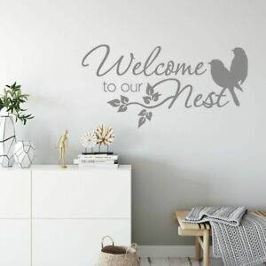 Vinyl Wall Decal Welcome to our nest