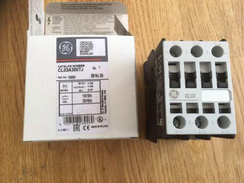 GE CL03A300TJ Contactor 3 polos 110120VAC 25A no x3 Din en panel CL 11kW Nuevo