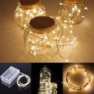 20 leds weihnachten party batterie led lichterkette kette leuchte 2m warmwei ebay. Black Bedroom Furniture Sets. Home Design Ideas