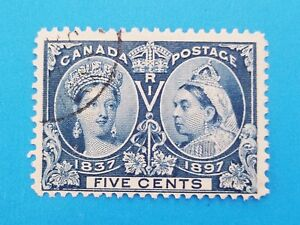 Canada-stamp-Scott-54-used-Well-centered-with-good-colors-Light-postmark