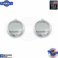 1957 For Pontiac Models Exc. Wagon - License Plate Light Lamp Lens Pair Usa