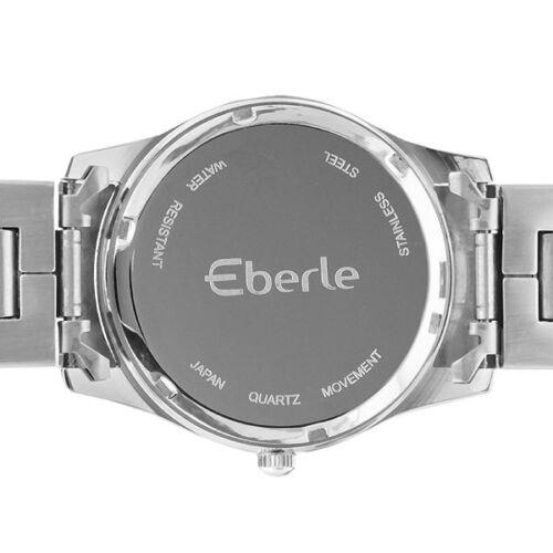Eberle Mens Stainless Steel Bracelet/Black Multi Dial