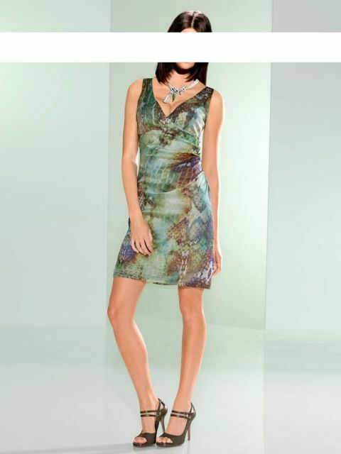 Heine Damen Seiden Kleid Party Kleid Freizeitkleid  Silhouette   40  44 46 NEU