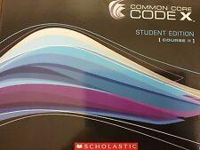 Common Core CODE X Student Edition Course II 2 Grade 7 Scholastic 2014 softcover