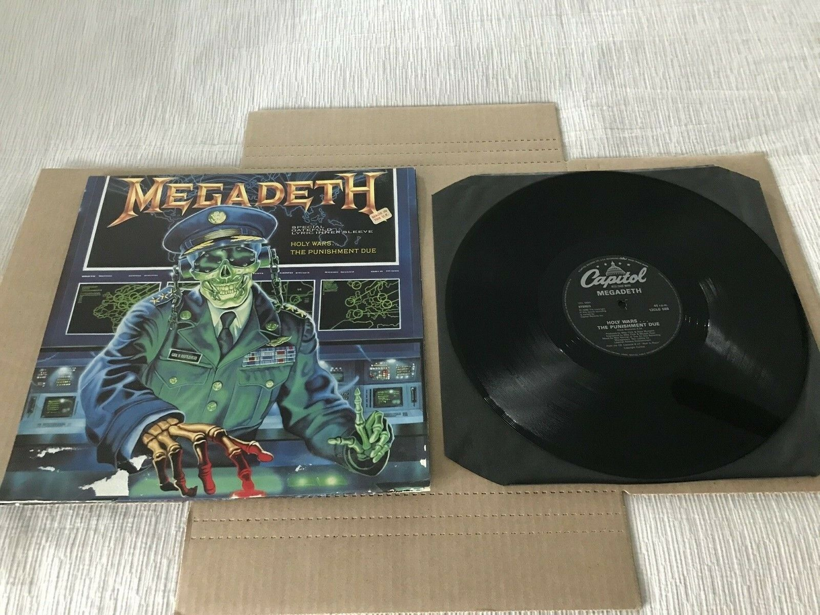 Megadeth Rust In Peace 1990 1st Press Lp Record Uk Import Vinyl 12 Single