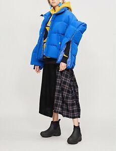 Junya Watanabe Comme des Garcons Zip Slit Sleeves Armor Shoulder Shell Puffer XS