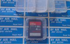 Paquete De 50 Tarjetas de Memoria SD SDHC Ultra casos titular Sandisk Kingston Sony Samsung