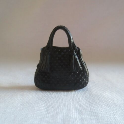 NEW Barbie Fashionista Doll Black Dot /& Tassel Small Bag Handbag Purse Clutch