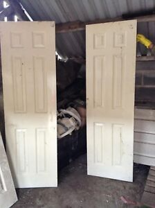 White Painted Six Panel Interior Doors Sliding Good Used Condition