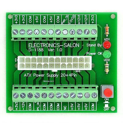 Electronics-Salon 24/20-pin ATX DC Power Supply Breakout Board Module
