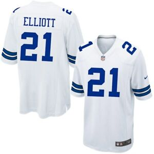 competitive price 195fb dab08 Details about EZEKIEL ELLIOTT NFL 2019 DALLAS COWBOYS MENS NIKE WHITE GAME  PRINT JERSEY $100