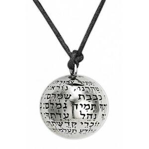 Kabbalah Pendant with Angels Names Silver 925 and Black Onyx Jewish Jewelry Talisman Amulet