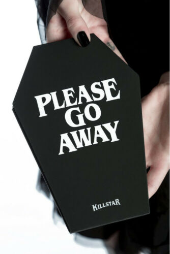 Killstar Notizbuch Go Away Coffin-Sarg-schwarz-Gothic