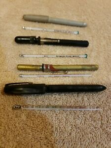 Vintage lot of 4 Glass Thermometers Oral and Rectal ...