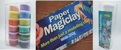 White Paper Magiclay 6 tub Air Dry Paperclay Moulds Scrapbooking Mixed Media