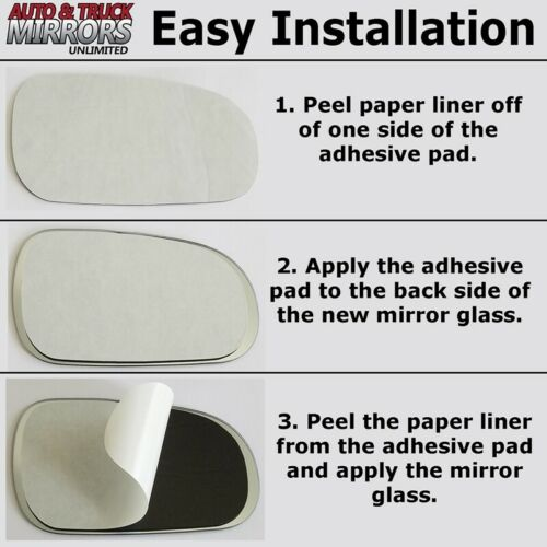 Mirror Glass Full Adhesive For 80-91 Vanagon Driver Side Replacement-Manual-Fi