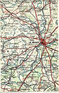 72-Le-Mans-La-Suze-Ecommoy-1924-carte-lin-partie-orig-Conlie-Ballon-Coulans