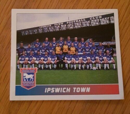 PANINI FOOTBALL 96 STICKER #99 IPSWICH TOWN TEAM PHOTO 1996