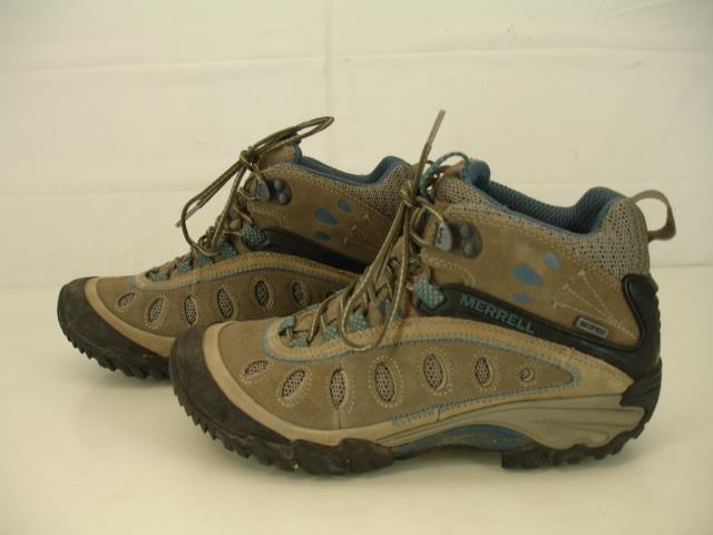 Womens 6.5 M Merrell Merrell Merrell Chameleon Arc 2 Mid Waterproof Hiking Boots Brindle Denim 086ce4