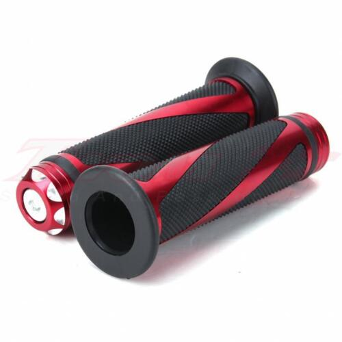 Universal Motorcycle Sport Bikes Hand Grips Handle Bar CNC Rubber Red 7//8 Ducati