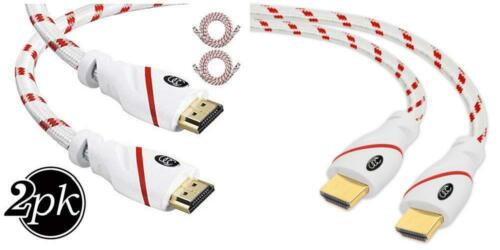 HDR Video High Speed... Supports 4K HDMI Cable 3 Feet 2 Pack Ultra HD