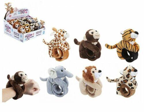 SLAP WRIST BANDS ANIMAL PLUSH Kids Hugger Collection Bracelets Hugglers Soft Toy