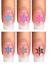 Indexbild 7 - Nail Tattoo Nail Art Schneeflocken Eiskristalle Winter Weihnachten + Glitter