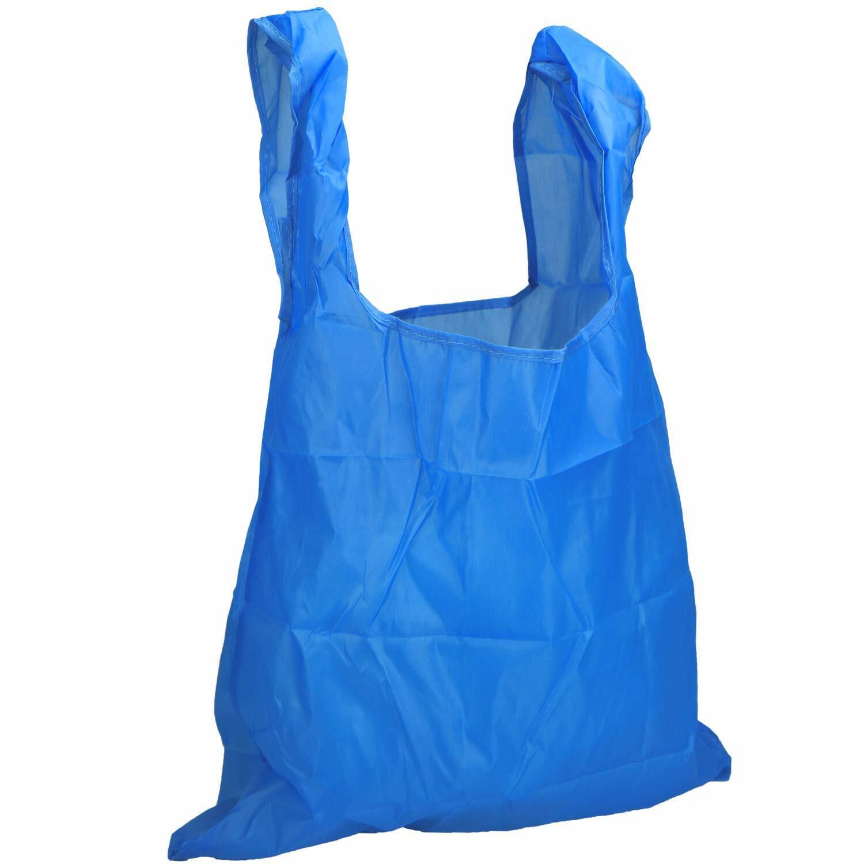 türkis schwarz//weiß 3er Set aus faltbaren Einkaufstaschen aus Nylon in schwarz