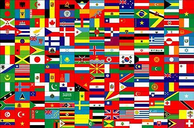 """Spirited Discounted Large High Quality Country Flag Banner 3'x5' indoor/outdoor 36""""x60"""" Consumers First"""
