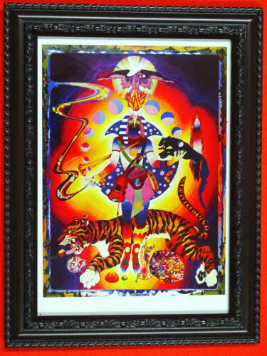 "framed 5 options authentic 5/"" x 7/"" prints Psychedelic art Marijke Koger"