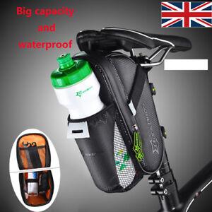 d5301a48120 Black Waterproof Bike Cycling Saddle Bag Seat Pouch Bicycle Tail Rear  Storage UK