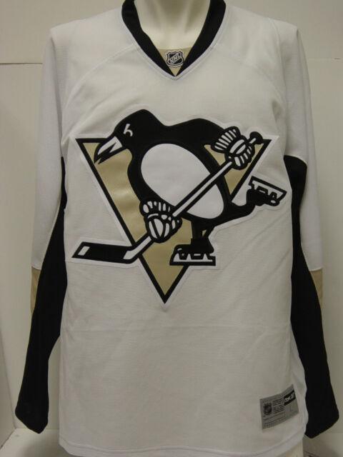 62628787e NEW Mens REEBOK Pittsburgh PENGUINS 7185A White CCM NHL Premier Hockey  Jersey